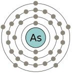 Atomic structure of arsenic