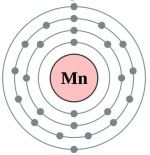 Atomic structure of manganese