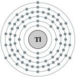 Atomic structure of thallium